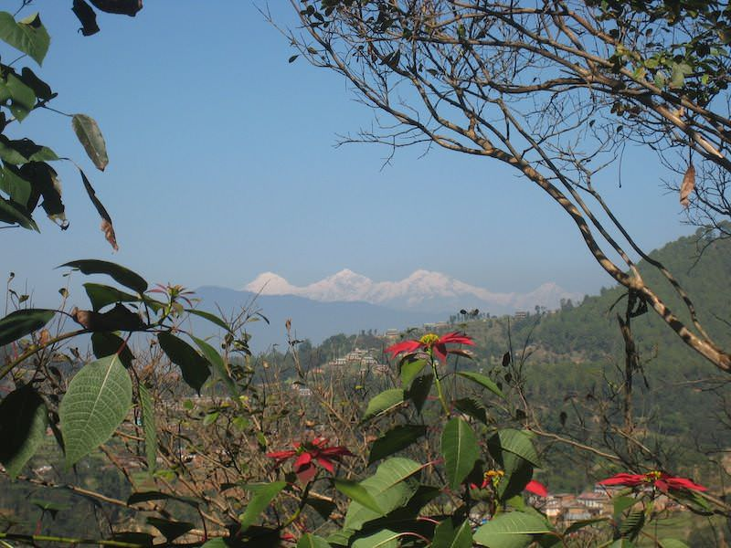 View from ashram