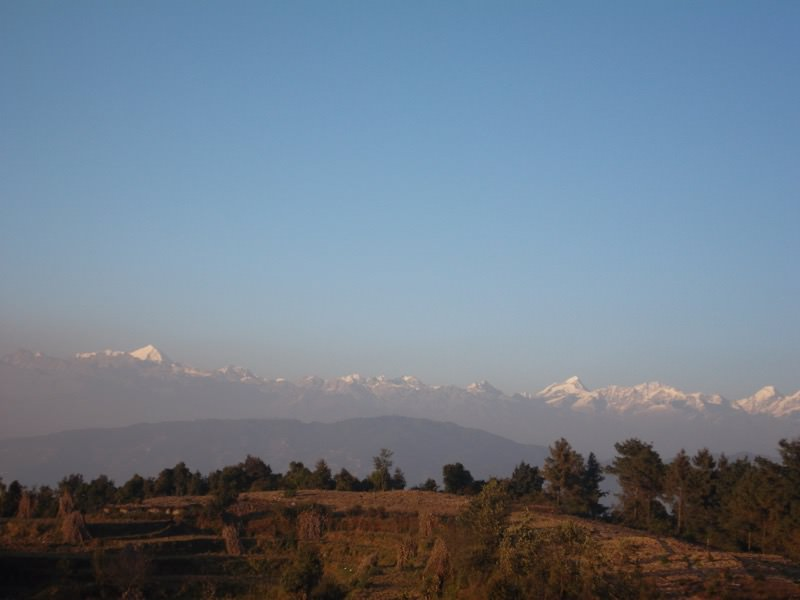 View from ashram (The Himalayas)